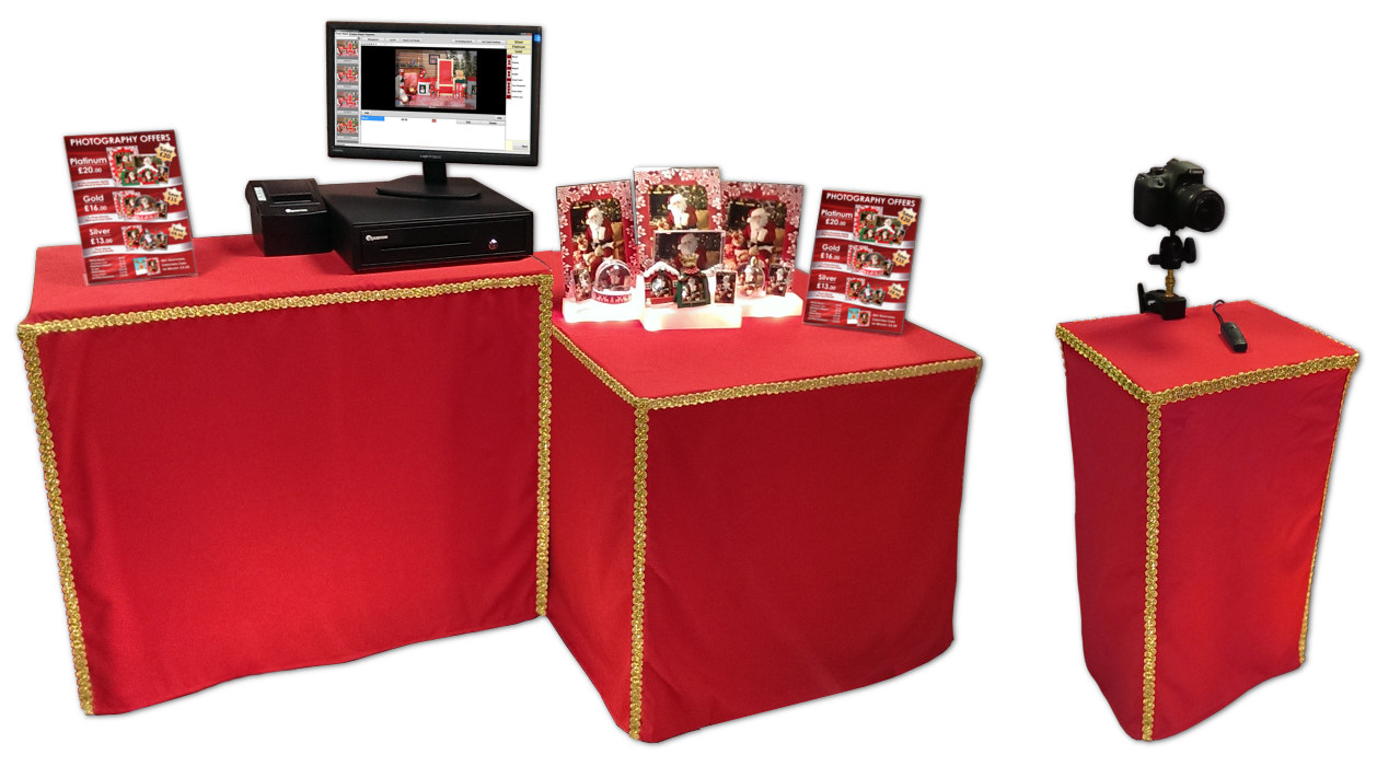 Christmas Grotto Photography Souvenir System Hire Set-Up Counter