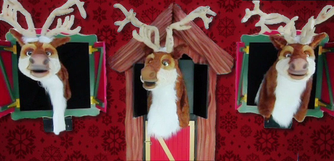 Singing Animatronic Reindeer